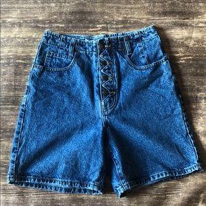 Vintage legend button fly jean shorts